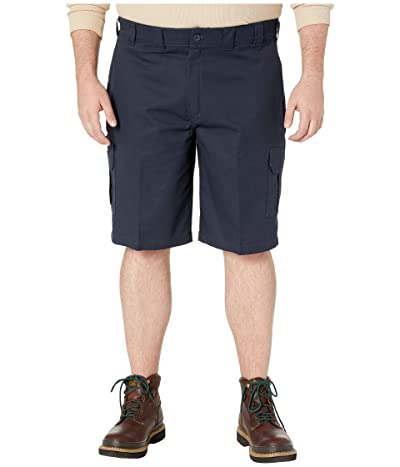 Dickies Big Tall 11 Cargo Work Active Waist Shorts Regular Fit (Dark Navy) Men
