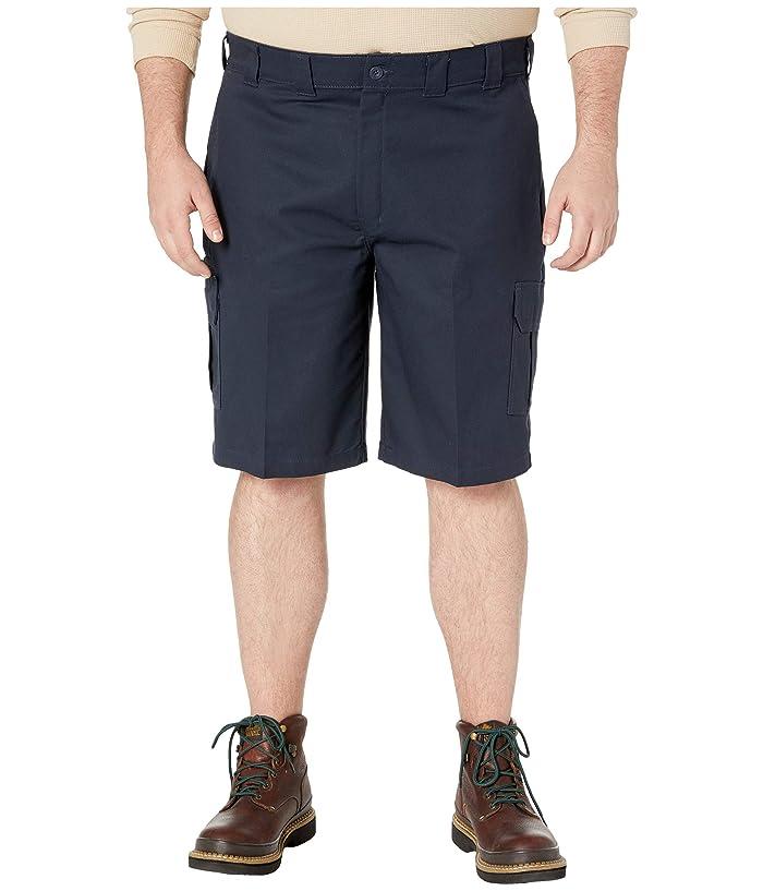 Dickies Big Tall 11 Cargo Work Active Waist Shorts Regular Fit (Dark Navy) Men
