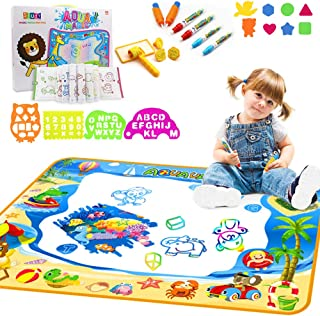"West Bay Aquadoodle Mat, Large Water Drawing Mat 40"" X 28"" Color Educational Water Writing Painting Pads with 24Pcs Accessories Toys Gift for Kids Toddlers for 2 3 4 5 6 Years Old Girls Boys"