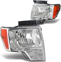 DNA Motoring HL-OH-F1509-CH-AM Headlight Assembly, Driver & Passenger Side