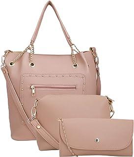 Lapis O Lupo Women Fashion Handbag Bag Sling Bag Pouch With Sling Shoulder Top Handle Tote Bag Satchel Purse Set 3pcs