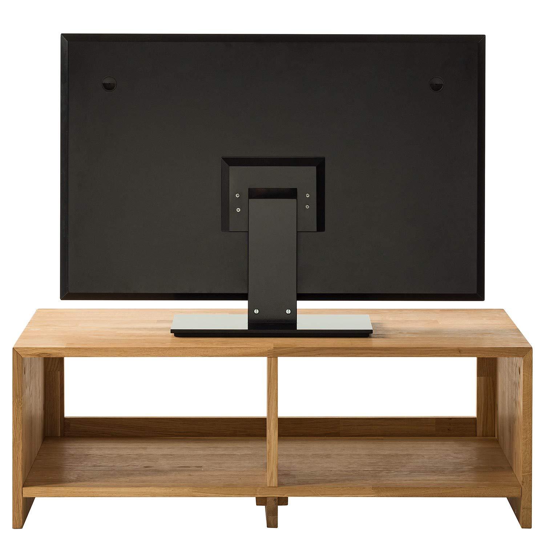 NORDICSTORY Mesa de TV Kirea de Madera Maciza Roble, Mueble Moderno Estilo y Diseño Nordico Escandinavo, Ideal para Salon (100 x 50 x 35 cm, Roble Natural): Amazon.es: Hogar