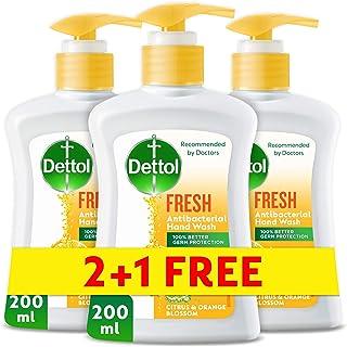 Dettol Fresh Anti-Bacterial Liquid Hand Wash 200ml 2+1 Free