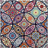 VETPW 5D DIY Mandala Diamante Pintura por Números Kit, Bricolaje Diamond Painting Bordado De Punto De Cruz Diamante Arts Craft para Decoración de la Pared del Hogar (30x30CM)