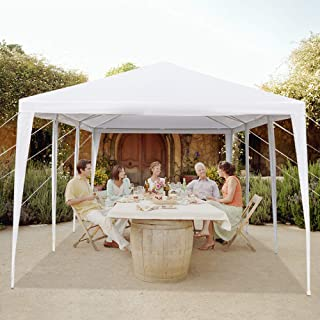 MTFY 10'x30'ft Party Wedding Canopy Tent, Portable White Gazebo Tent for Outdoor Event Waterproof, UV Protection Beach Sun Shelter, Removable Sidewalls, Upgraded Spiral Tube