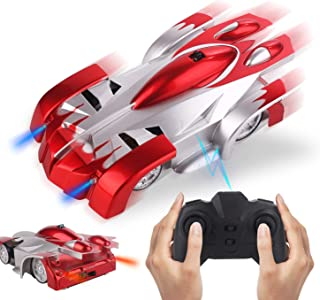 Obbug RC Climb Car for Wall,Remote Control Car Toy,USB Rechargeable Car with Update Remote Control, 360°Rotating Gravity Defying Stunt for Kids Boy Girl Birthday Gifts. (Red)