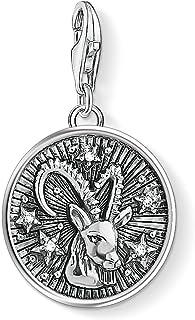 Thomas Sabo Men Women Charm Pendant Zodiac Sign Capricorn Charm Club 925 Sterling silver 1649-643-21