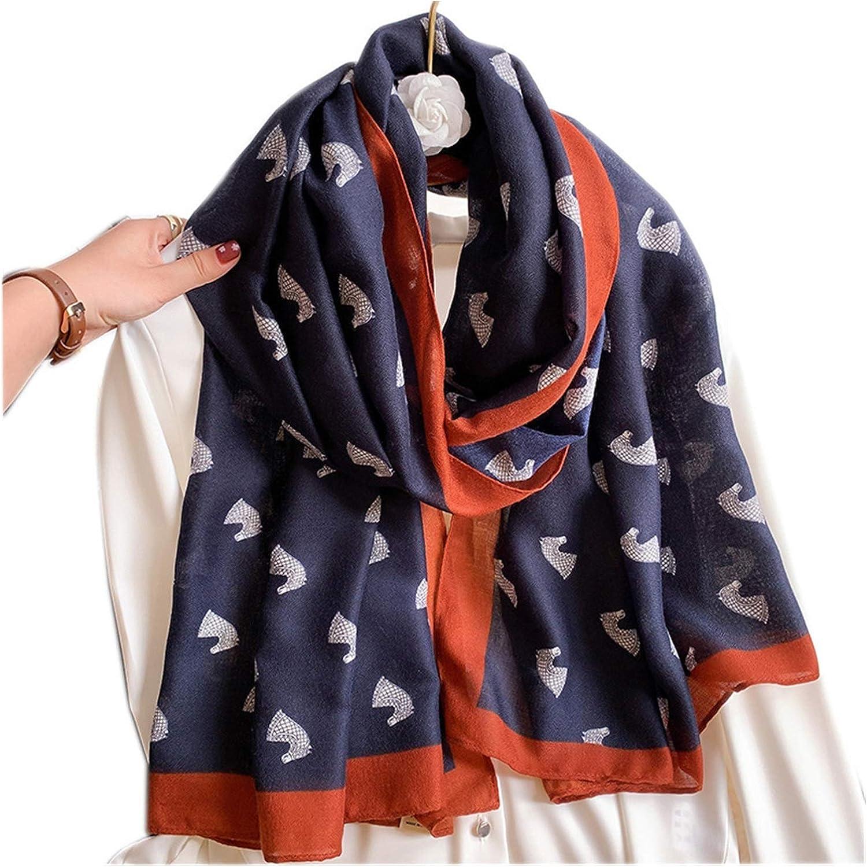 Jgzwlkj Scarf Cotton Scarf Fashion Female Large Women Poncho Shawl Bandana Foulard Scarves (Color : 10, Size : ONE Size)