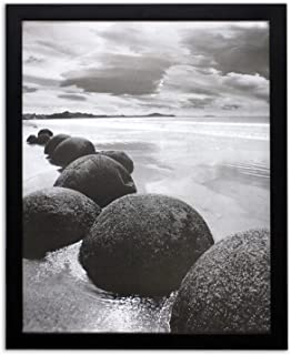 Golden State Art 16x20 Black Picture Frame, 1-1/4-Inch Wide with Real Glass