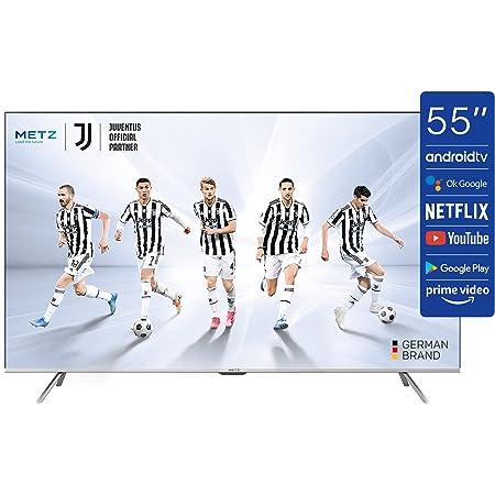 TV METZ 55'' (139 cm) LED UHD/4K Android TV 10.0 (Netflix, Prime Video, Disney+, MyCanal, OCS, Apple TV, …) HDR10 / HLG Wi-FI avec Tuners DVB-T2/C/S2 - Série MUC7