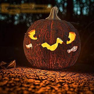 Veilleuse Halloween Strange Pumpkin Night Lamp Décorations Résine Crack Petite Atmosphère Lampe décorative Nouvel An Porta...