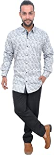 The Mods Men's Casual White Color Shirt