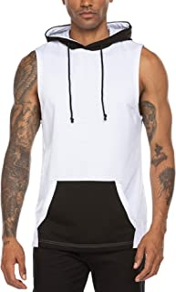 Men's Muscle Tank Top Workout Training Shirt with Hoodies