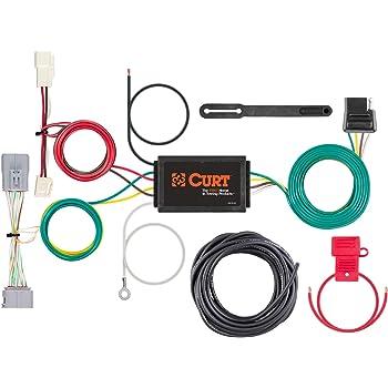 amazon.com: curt 56371 vehicle-side custom 4-pin trailer wiring harness for  select toyota prius: automotive  amazon.com