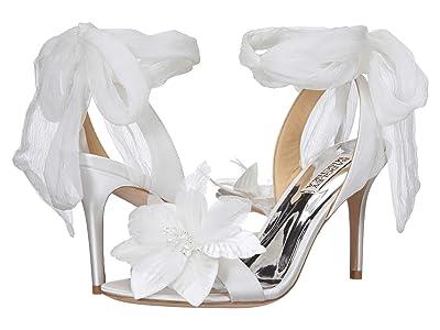 Badgley Mischka Almira (Soft White Satin/Chiffon) High Heels