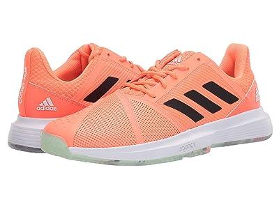 adidas CourtJam Bounce (Dash Green/Signal Coral/Tech Purple) Men