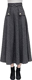 Best long black wool skirt Reviews