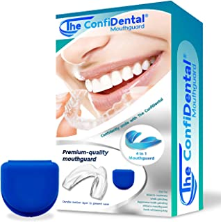 The ConfiDental - 2 Sizes, Pack of 8 Moldable Mouth Guard for Teeth Grinding Clenching Bruxism, Sport Athletic, Whitening ...