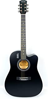 Mike Music 41 inch Acoustic guitar with bag and strap (41, black)