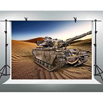 10x6.5ft Background War Tank Photography Backdrop YouTube Video Production Props Photo Banner LHFU204