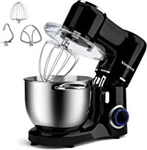 Vospeed Stand Mixer, 7.5 QT 660W 6-Speed Tilt-Head Food Mixer Kitchen Electric Mixer with Stainless Steel Bowl, Beater, Ho...