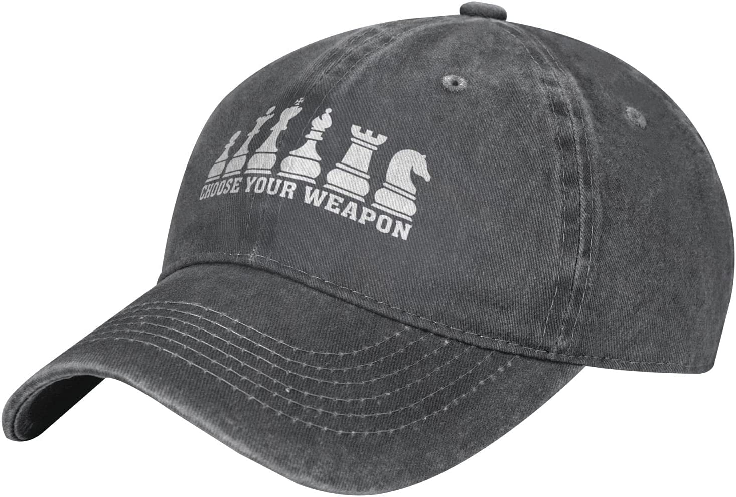 Pcaocmro Choose Your Weapon Cowboy Hat Unisex Adjustable Hat Circumference Size Pure Cotton Denim Wash Water Outdoor