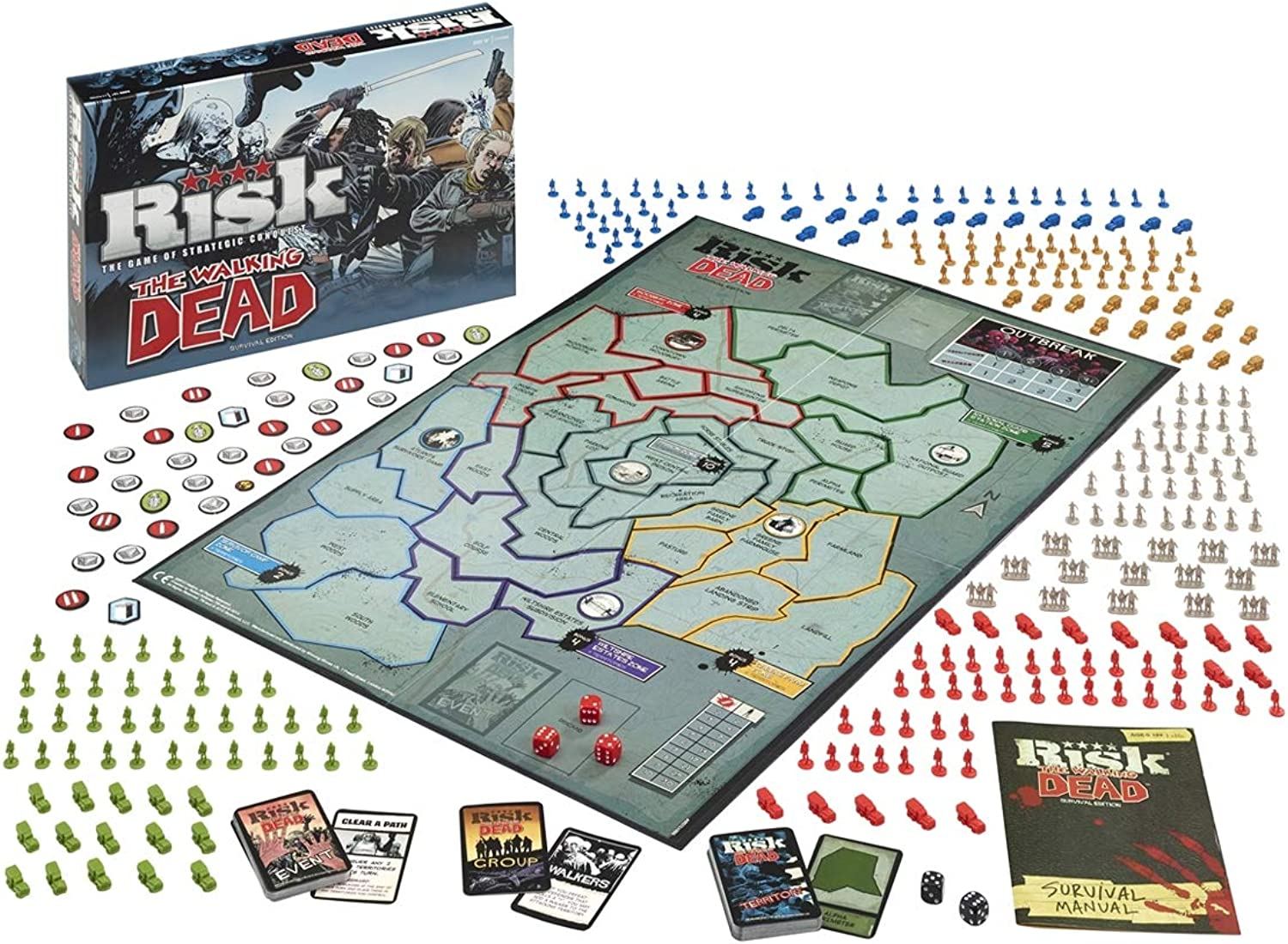 Hasbro Risk The Walking Dead Survival Edition ( English Language