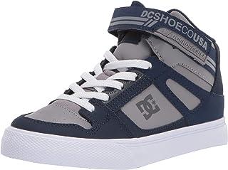 Boys' Pure HIGH-TOP EV Skate Shoe, Navy/Grey, 4 M US
