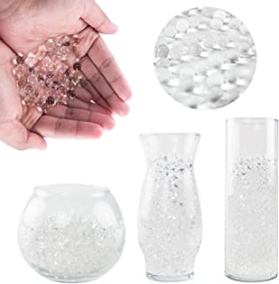 Super Z Outlet 1 Pound Bag of Clear Water Gel Beads Pearls for Vase Filler, Candles, Wedding Centerpiece, Home Decoration, Plants, Toys, Education. Makes 12 Gallons