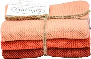 Trendy Tripper 3-Piece Danish Cotton 100% Eco-Tex Certified Dishcloths (Terracotta Combi)