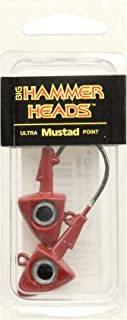 Big Hammer Jig Head with 4/0 Hook, Red, 3/4-Ounce
