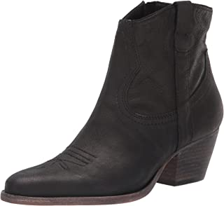 Dolce Vita Women's SILMA Ankle Boot, Black Leather, 7.5