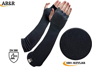 Kevlar Arm Sleeves Cut Knife Heat Scratch Resistant 18 Inch Long Elbow Cover Level 4 EN Tested Glass Metal Cutting,Grinding,Welding UV Protection Gardening,Cooking Arm Chaps  Dog Training Bite Guard 