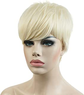 Lydell Short Asymmetry Side Bang Straight Wig Full Synthetic Wigs #613