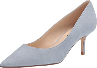 Nine West Women's Arlene Pump, Light Blue Suede, 7