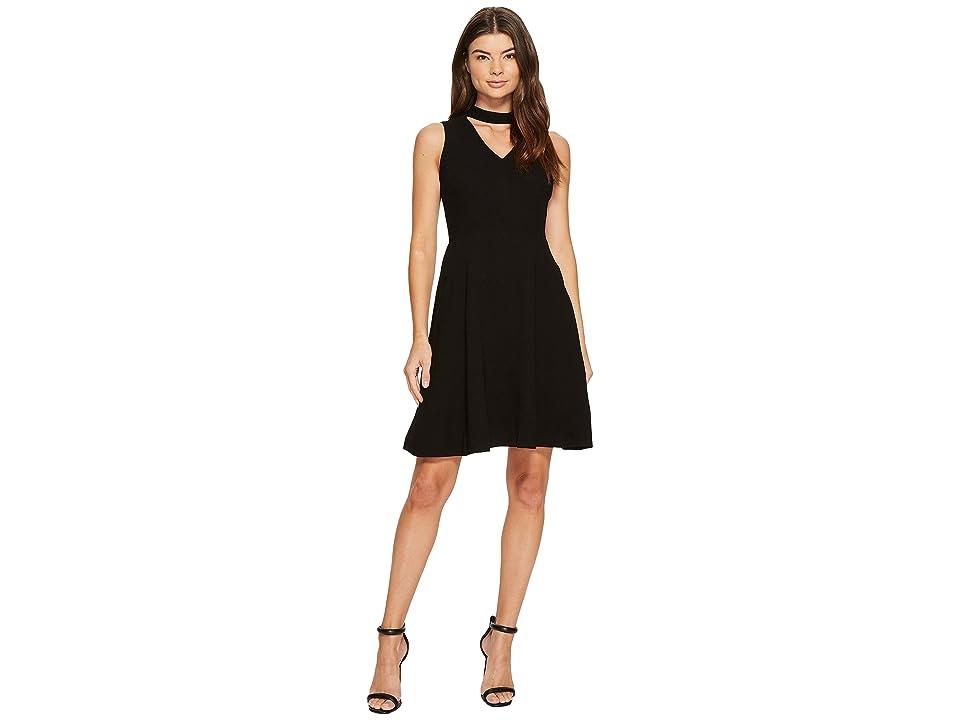CATHERINE Catherine Malandrino Sleeveless Pieced Dress (Black Beauty) Women