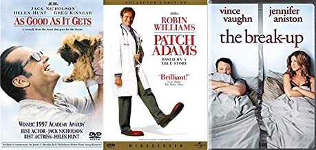 Tug at the Heart Jack As Good As It Gets + Robin Patch Adams & The Breakup Comedy DVD Triple Feature