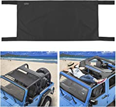 Seven Sparta Car Roof Hammock for Jeep Wrangler YJ, TJ, JK & JKU 1987-2018 4-Door and 2-Door, Waterproof Car Bed Rest Hammock