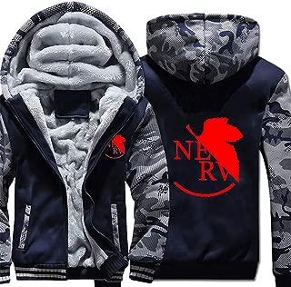 Neon Genesis Evangelion Anime Thicken Hoodie Sweatshirt Unisex Camo Outwear Jacket