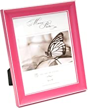 "Maxxi Designs Photo Frame with Easel Back, 8 x 10"", Pink Rainbow"