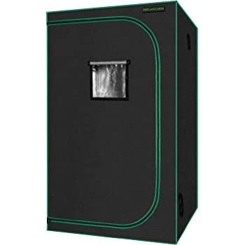 MELONFARM Grow Tent 48''x48''x80'' Reflective 600D Mylar Hydroponic with Observation Window, Floor Tray and Tool Bag for Indoor Plant Growing