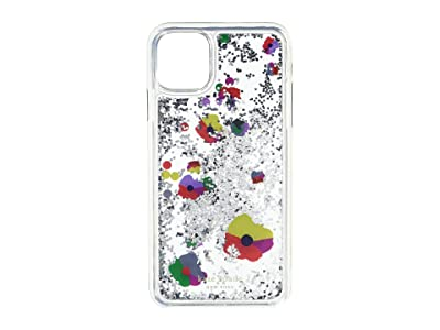 Kate Spade New York Collage Liquid Glitter Phone Case for iPhone 11 Pro Max (Clear Multi) Cell Phone Case