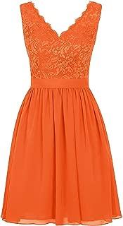 CladiyaDress Women V Neck Sleeveless Ruffles Short Bridesmaid Dress Homecoming Gown D239LF