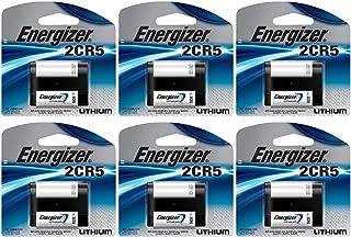 6 Energizer 2CR5 Lithium Camera Photo 6V Batteries