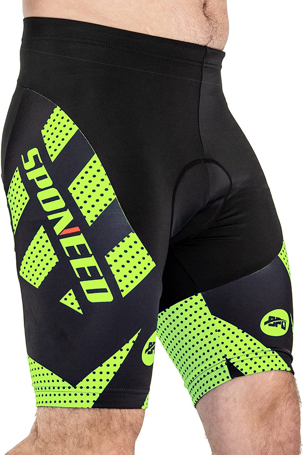 sponeed Sacramento Mall lowest price Men's Padded Bicycle Shorts Cylce Pants
