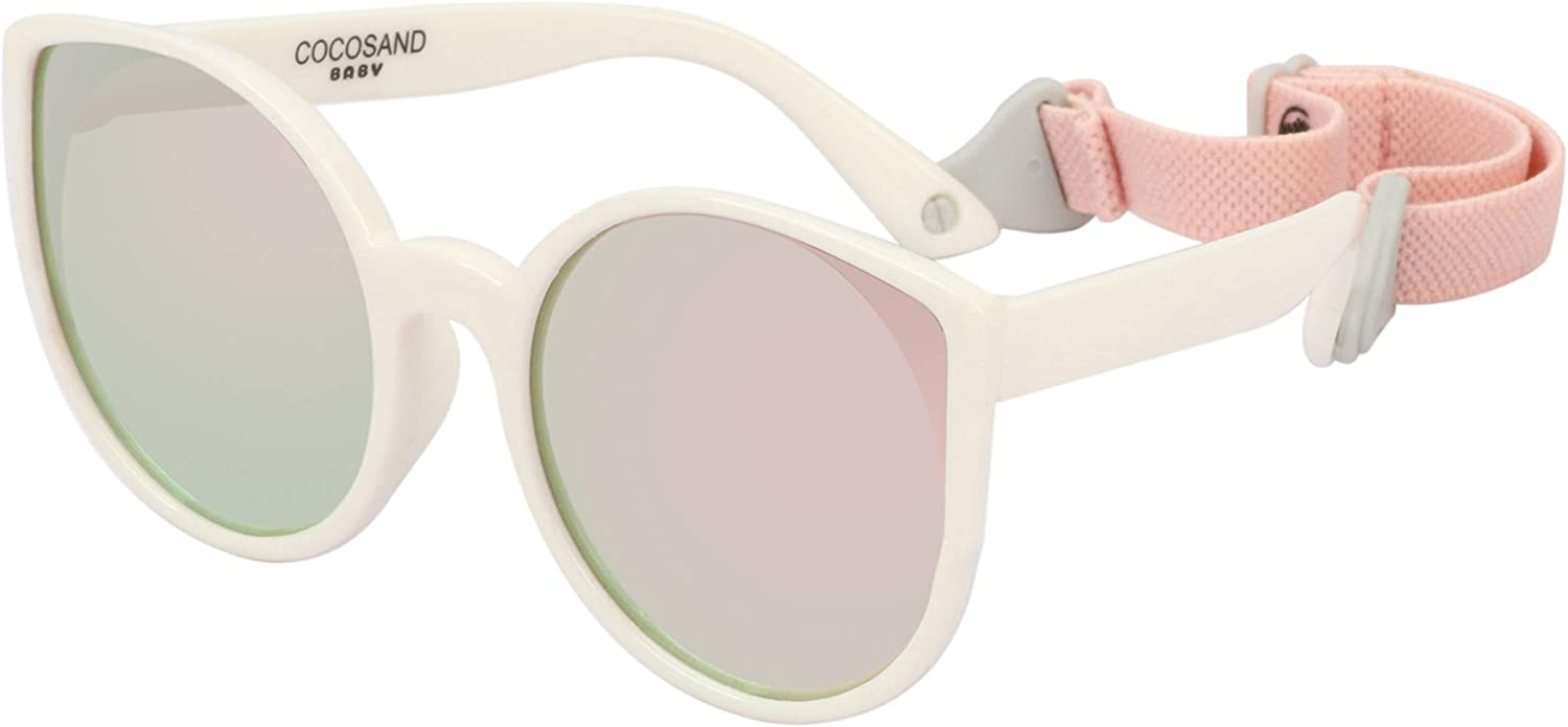 COCOSAND Baby Sunglasses with Strap Cateye Style UV400 Protection for...