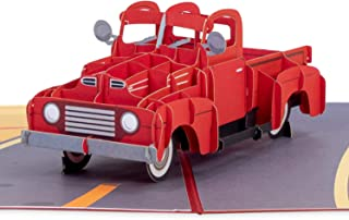 Paper Love Classic Truck Pop Up Card, 3D Popup Greeting Cards, for Fathers Day, Birthday, Graduation, Thinking of You, Jus...