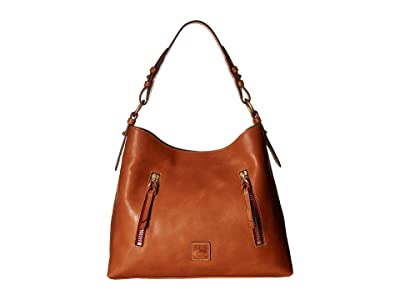 Dooney & Bourke Florentine Cooper Hobo (Natural/Natural Trim) Hobo Handbags