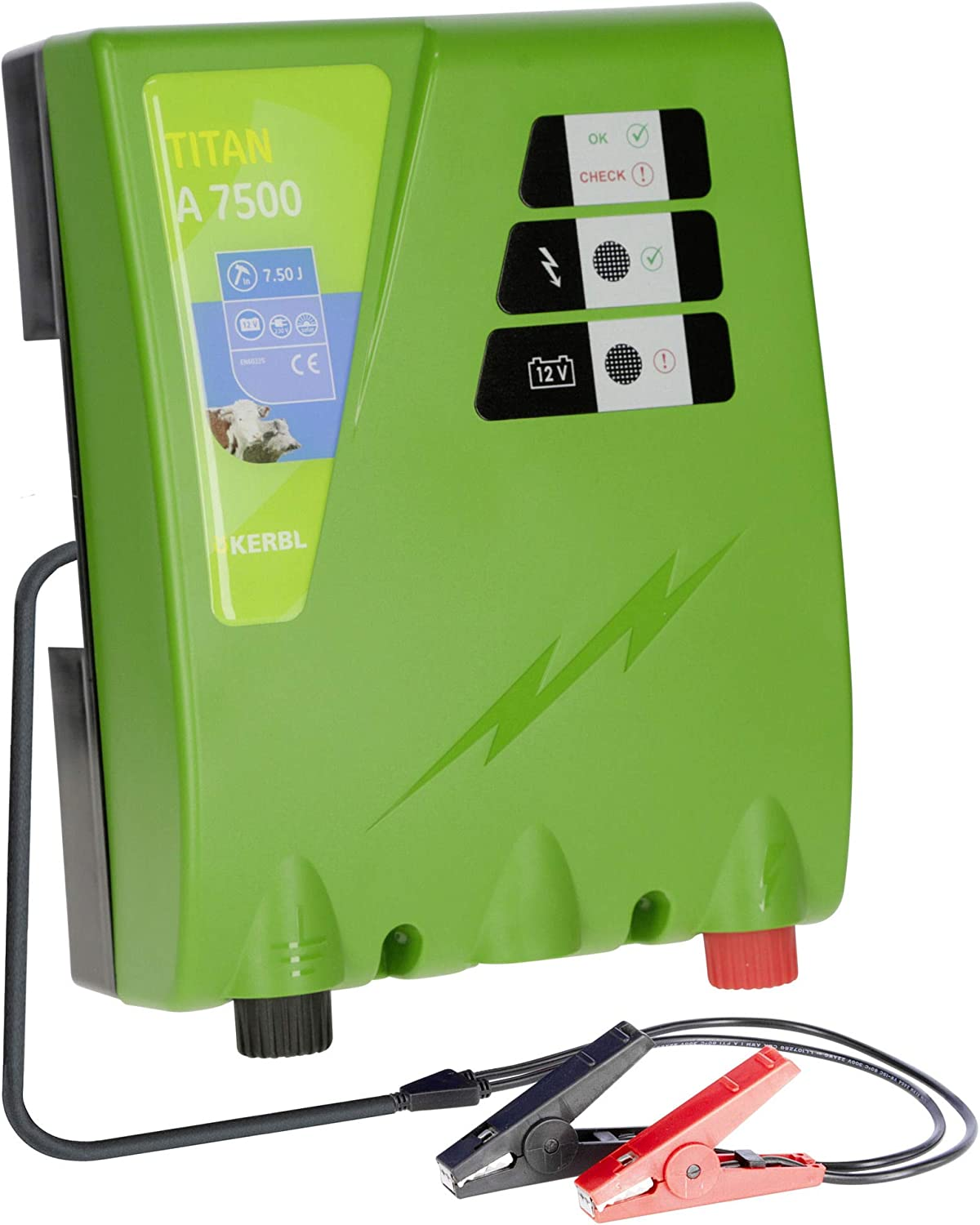Kerbl Titan A 7500 Rechargeable Electric Fence Device 7.5 J Battery Device 12 Volt