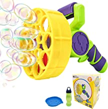 WhizBuilders Bubble Machine Gun for Kids and Toddlers, Outdoor Summer Pool Giant Water..